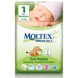 Moltex Nature Disposable Nappies - Newborn - Size 1 - Pack of 23