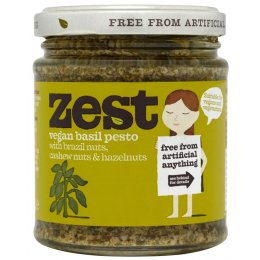 Zest Basil Pesto Suitable For Vegans - 165g