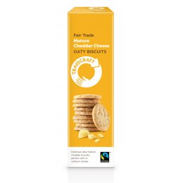 Traidcraft Fairtrade Mature Cheese Oaty Biscuits - 130g