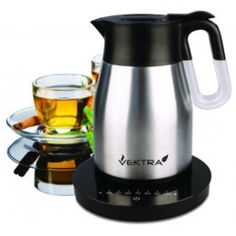 Vektra Vacuum Eco Kettle 4 with Temperature Control - 1.5 Ltr Brushed Stainless Steel