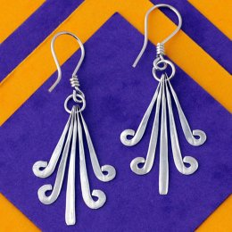 Silverchilli Flores Aztecas Earrings