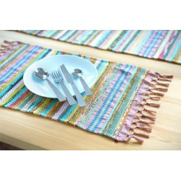 Handwoven Recycled Cotton Placemat - Set of 4
