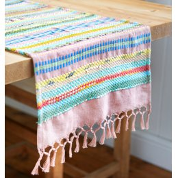 Handwoven Recycled Cotton Table Runner