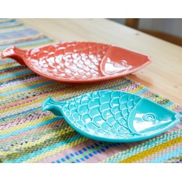 Bright Fish Platters - Set of 2