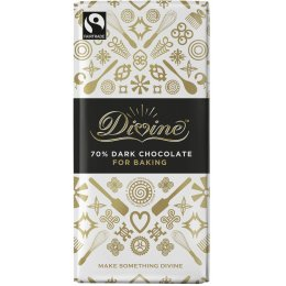 Divine Dark Chocolate Bar For Baking - 150g