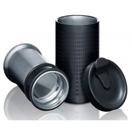Bobble Presse - Insulated Coffee Press & Travel Mug - Black