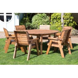 Six Seater Outdoor Circular Table Set - HB10