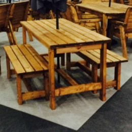Six Seater Outdoor Pub Style Table Set