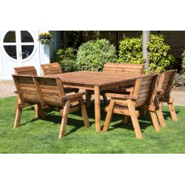 Eight Seater Deluxe Square Outdoor Table Set - HB44