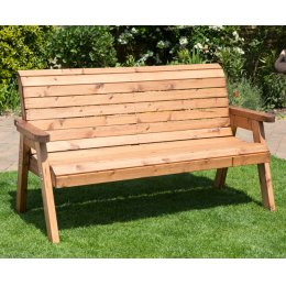 Traditional Outdoor Three Seater Bench