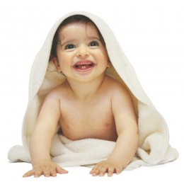 Organic Cotton Baby Hooded Towel - 80x80cm