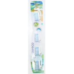 Yaweco Replacement Toothbrush Heads - Soft - Pack Of 4