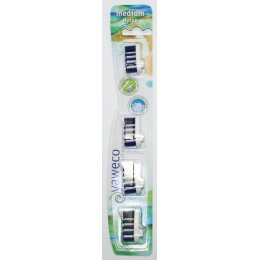 Yaweco Replacement Toothbrush Heads - Medium - Pack Of 4