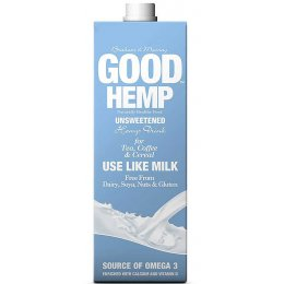 Good Hemp Dairy Free Milk Drink - Unsweetened - 1L