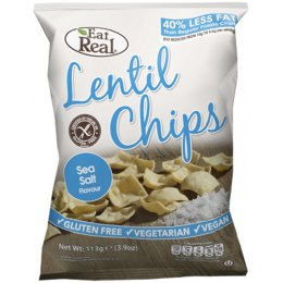 Eat Real Lentil Gluten Free Sea Salt Crisps - 113g