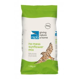 RSPB No Mess Bird Sunflower Seed Mix - 1.8kg