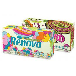 Renova Green 100 percent  Recycled White 3Ply Tissues - Box of 80