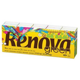 Renova Green Paper Tissues - 100 percent  Recycled - 10 Pack