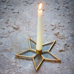 Natema Star Candle Stick - Brass