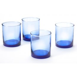 Recycled Blue Short Tumbler - Set of 4