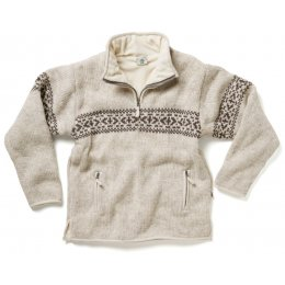 Mens Fort William Half Zip Jumper - Oatmeal