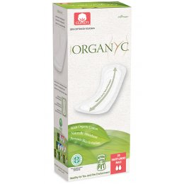 Organyc Panty Liners - Extra Long - Pack of 20