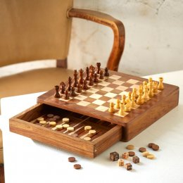 Fair Trade Chess & Backgammon Board