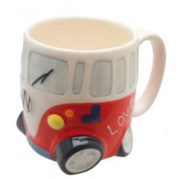 Camper Van Mug - Red