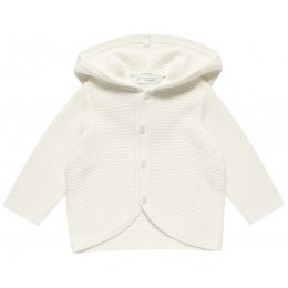 Sense Organics Paul Hooded Long Sleeved Baby Cardigan - Ivory