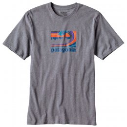 Patagonia Framed Fitz Roy Logo T-Shirt - Nickel