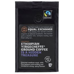 Equal Exchange Ethiopian Yirgecheffe Roast & Ground Coffee - 227g