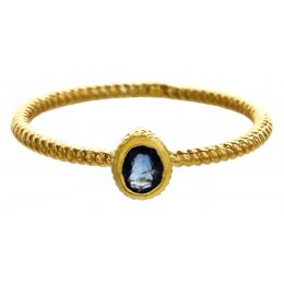 Marzipants 18ct Gold Ring - Sapphire