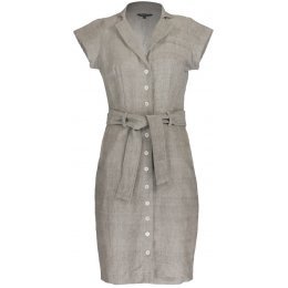 Nancy Dee Cate Light Grey Shirt Dress