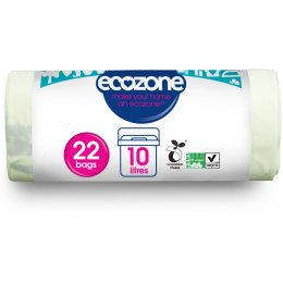 Ecozone Eco Compostable Caddy Liners - 10L - Pack of 22