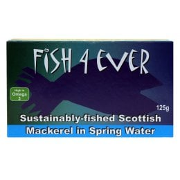 Fish 4 Ever Scottish Mackerel In Spring Water - 125g