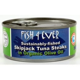 Fish 4 Ever Skipjack Tuna Steaks In Olive Oil - 160g