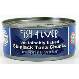 Fish 4 Ever Skipjack Tuna Chunks In Spring Water - 160g