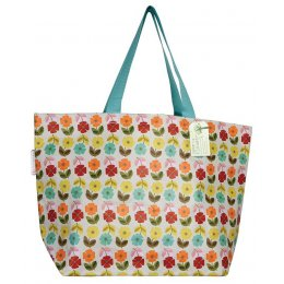 Large Mid Century Poppy Shopper Bag