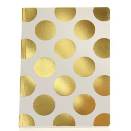 Shimmer Large Cream & Gold Polka Dot Notebook - A5