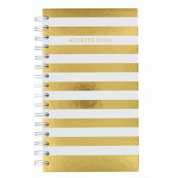 Shimmer Cream Stripe Slim Address Book