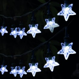 Solar Powered Star String Lights - 30