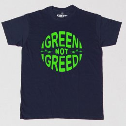 All Riot Green Not Greed Slogan T-Shirt