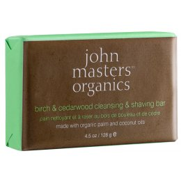 John Masters Organics Birch & Cedarwood Cleansing & Shaving Bar - 128g