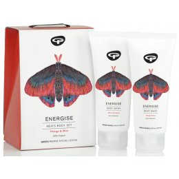 Green People Mens Organic Body Care Butterfly Conservation Gift Set - Energise - 200ml