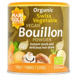 Marigold Organic Bouillon Powder - Reduced Salt - 140g