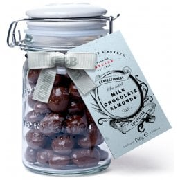 Cartwright & Butler Sea Salted Almonds In Milk Chocolate - 150g