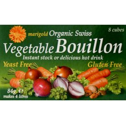 Marigold Bouillon Stock Cubes - Yeast Free and Gluten Free - 84g