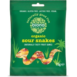 Biona Organic Sour Snake Sweets - 75g