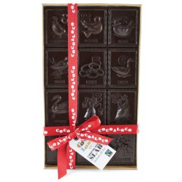Cocoa Loco 12 Days of Christmas Dark Chocolate Slab - 500g