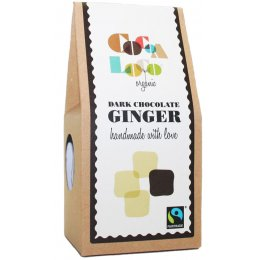Cocoa Loco Ginger In Dark Chocolate - 100g